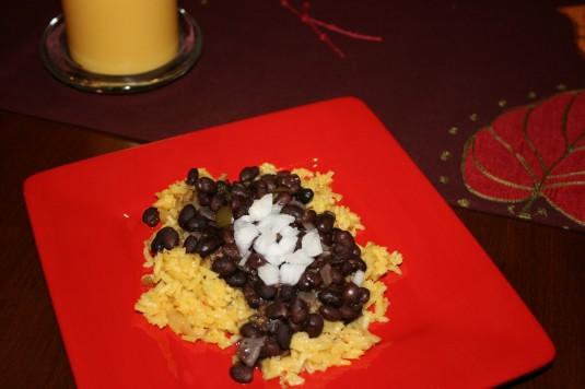 black beans for dinner