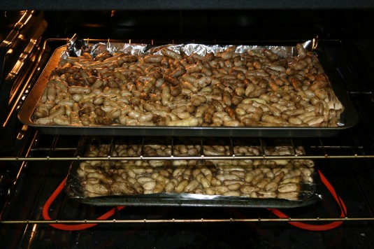 oven-baked roasted peanuts