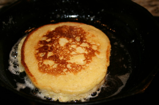 pan-frying cornbread