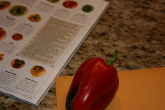 my first red pepper